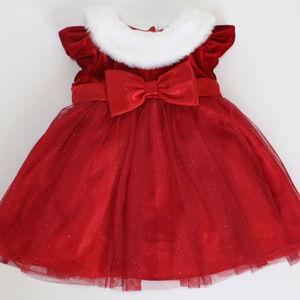 Jona Michelle Red Velvet Christmas Dress 12 Mos
